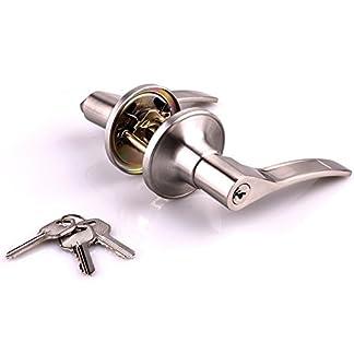 cuarto de ba/ño cerradura de llave color blanco dormitorio puerta de lavander/ía cocina NUZAMAS Ceramics cerradura de puerta de cer/ámica pomos de puerta interior exterior