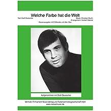 Welche Farbe hat die Welt: as performed by Drafi Deutscher, Single Songbook