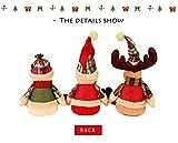 Igemy Weihnachten Stil Weihnachtsmann Elk Schneemann Hut Angefülltes Plüsch Puppe 2018 (B) Test