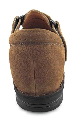 ZERIMAR Sandali per gli uomini con Aumentato ¡ATTENZIONE OFFERTA SPECIALE 7,5 ANNIVERSARIO! interno di 7 cm Marcatura fashion design 100% pelle Colore Pelle Pelle