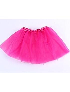Josep. H Lovely Girl baile vestido de ballet falda gasa corto vestido, hot pink, 40*28