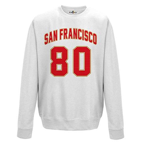 Felpa Girocollo Uomo San Francisco 80 White Arctic White