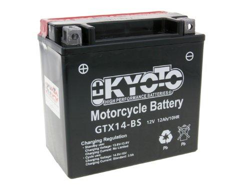 Battery Kyoto 12V gtx14-bs Maintenance Free Moto Guzzi V7 750 Stone 14