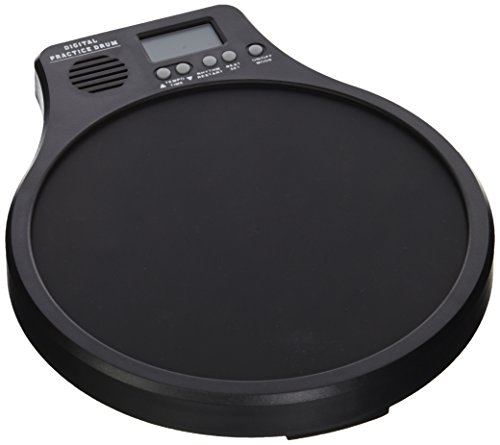 Neewer 3-in-1 Digital LCD Display Portable Drum Practice Pad Metronome Drummer Training Pad with Adjustable Rhythm Beat Tempo (Black)