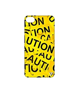 Vogueshell Caution Printed Symmetry PRO Series Hard Back Case for Apple iPhone 6S Plus