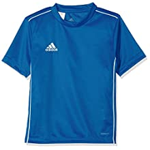 Adidas Kids Core 18 Jersey, Bold Blue/White, Size 152 (Manufacturer Size: 11-12 Years)