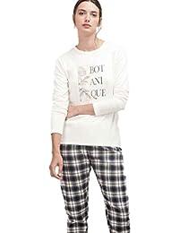 GISELA Pijama de Mujer Combinado en algodón 2/1458 - Crudo, ...