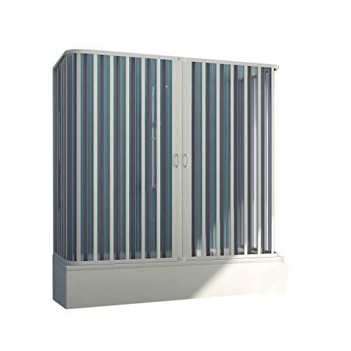 Forte BR230001 Box Vasca Free 3 Lati Riducibile-AP. Centrale (70 x 150-170 x 70 cm) H 150 cm, Bianco