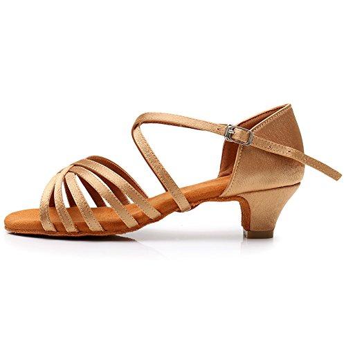Ykxlm donna & bambine scarpe da ballo latino/standard ballroom sala da ballo scarpe,itwhxgg,beige,eu 34