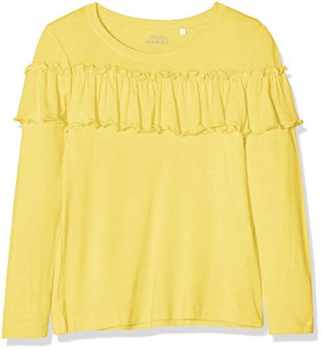 Name It Nkfvalda LS Top T Noos Felpa, Giallo (Primrose Yellow Primrose Yellow), 116 Bambina