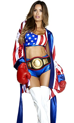 Forplay Womens Sexy Get 'Em Champ Boxer Fancy Dress Costume Medium/Large (Boxer Fancy Dress Kostüm)