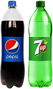 Pepsi & 7UP Carbonated Soft Drinks, 2 x 1.5 Litre
