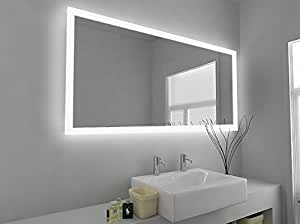 Modern mirror design led illuminated bathroom mirror with for Miroir 120x60