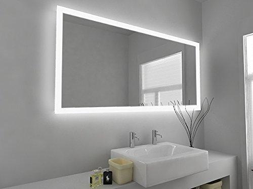 Specchio da bagno con Led in contorno e sensori, presa rasoio e ...