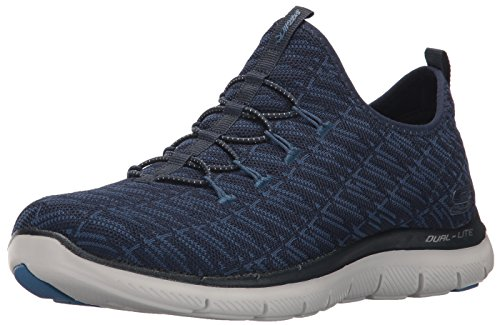 Skechers Damen Flex Appeal 2.0-Insights Slip On Sneaker Blau (Navy/Blue)