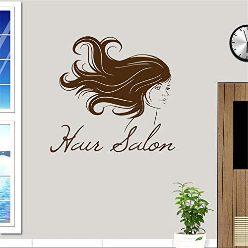 zlhcich Friseursalon Aufkleber Schönheit Aufkleber Haarschnitt Name Poster Zeit Stunde VinylWandkunstAufkleber Dekor Dekoration Wandbild Salon Aufkleber70 * 72 cm