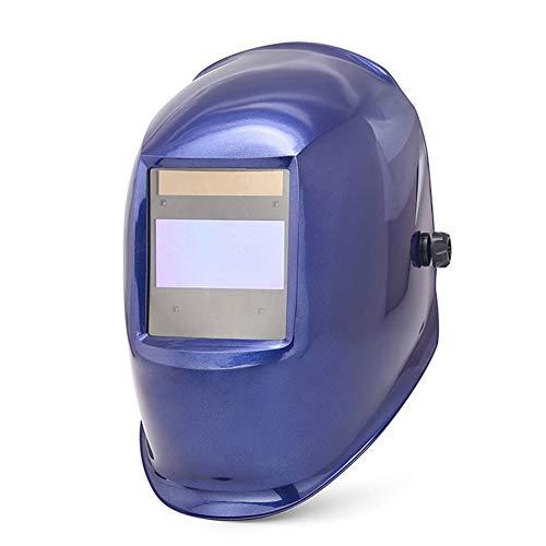 LAIABOR Casco De Soldadura Automático Oscurecimiento Máscara Solar Energía Máscara Fotosensible Máscara Soldador Ajustable,Blue
