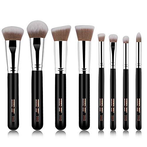 SynthéTique Fusion De Fond De Teint Concealer Eye Visage Liquide Poudre CrèMe8Pcs Pinceaux De Maquillage Poudre Fondation Fard à PaupièRes Pinceau CosméTique LèVre Concealer Cosmetics Brush
