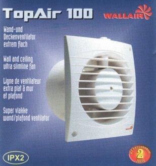 Ventilator Air (Lüfter Ventilator Top Air Timer Bad WC Küche 100 mm 90m³/h)