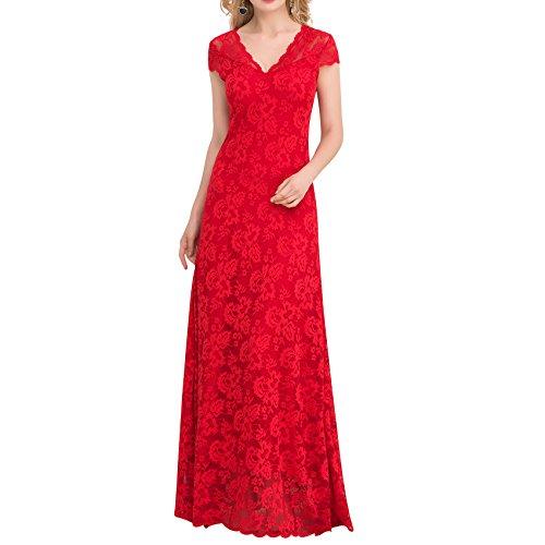 E-Girl Ov1044 Damen Abendkleid Rot