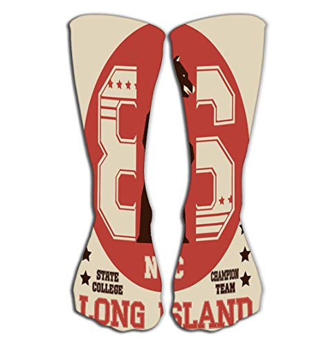 CVDGSAD Outdoor Sports Men Women High Socks Stocking New York Typography Fashion Sport Bear Long Island Tile Length 19.7