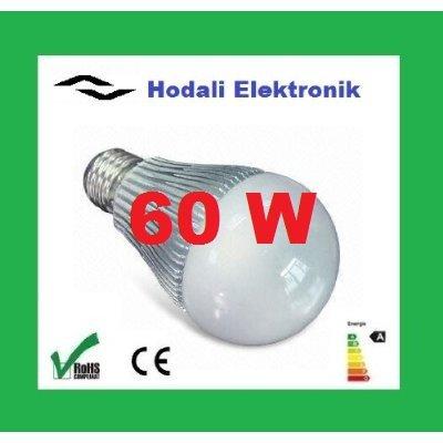 1 x Hodali Elektronik MG-60 LED Lampe 230V E27 710 Lumen warm weiß, entspricht einer 60 W Glühlampe - Sehr geringer Verbrauch nur 7W, für den Dauerbetrieb geeignet - Sonderangebot: Solange Vorrat reicht von Hodali Elektronik