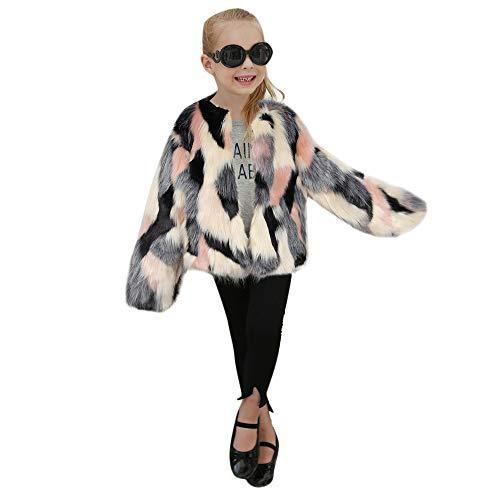 Bazhahei bambini,giacca con cappuccio pelliccia sintetica,autunno inverno infantile ragazza ragazzo cappotto bambino invernali felpa maniche lunghe caldo mantello-6 mesi-4 anni