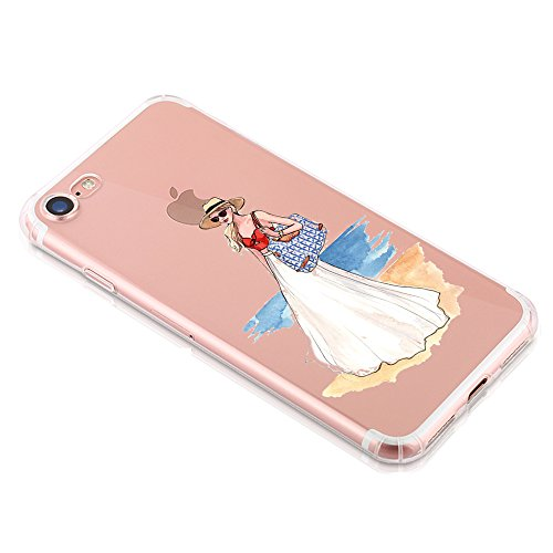 Coque iphone 7 Qissy® Étui Housse en Silicone Souple Transparent Protecteur Mince Shell Gel TPU Back Case pour Apple iphone 7 4.7 Pouces D
