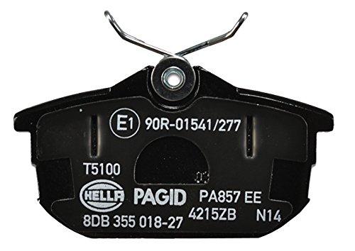 Preisvergleich Produktbild HELLA PAGID 8DB 355 018-271 Bremsbelagsatz,  Scheibenbremse,  Hinterachse