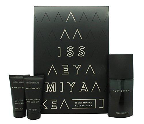 Issey Miyake Nuit d'Issey for Men Geschenkset 75ml EDT + 50ml Duschgel + 50ml Aftershave Balm