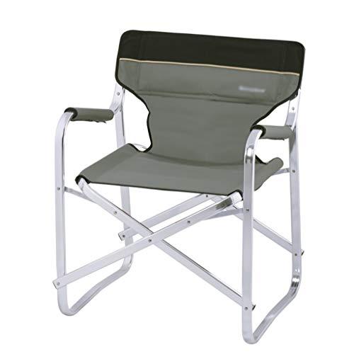 DCCYZ-YJ Aluminium Directors Klappstuhl mit Armlehne Camping Stuhl Angeln Stuhl Gartenstuhl (Farbe : Gray)