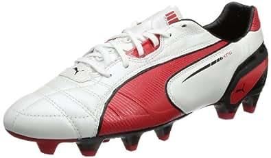 Puma King FG 102669 Herren Fußballschuhe, Weiß (metallic white-high risk red-black 06), EU 39 (UK 6) (US 7)