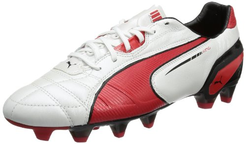 Puma King FG 102669, Scarpe da calcio uomo, Bianco (Weiß (metallic white-high risk 06)), 42