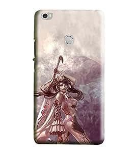 Hi-Me Designer Phone Back Case Cover Xiaomi Mi Max :: Redmi Max :: Xiaomi Mi Max ( Sweet Soldier Female Sword Warrior )