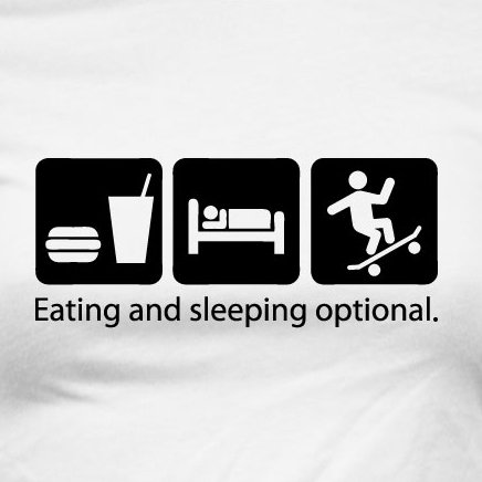 TEXLAB - Eat Sleep Skate - Damen T-Shirt Dunkelblau