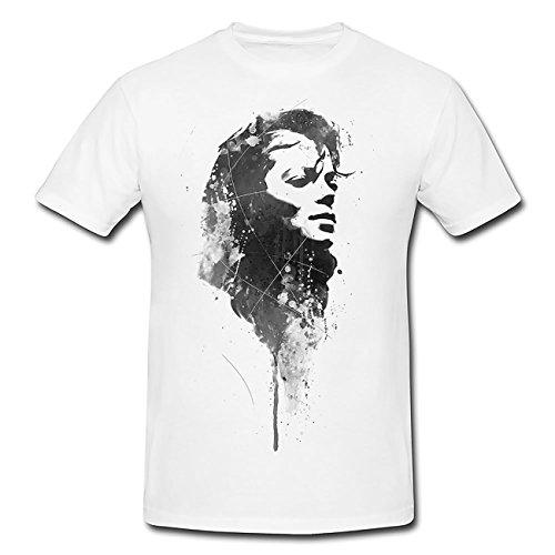 Michael Jackson VII T-Shirt Herren, weiß mit Aufdruck