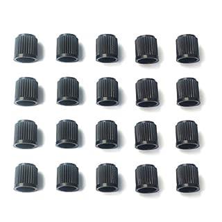 Standardbeschlag Schwarz Kunststoff Luftventil Staubkappen deckt für Auto, Fahrrad, motorräder, Van von AoE Performance