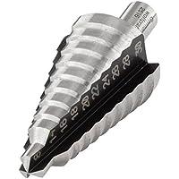 Wolfcraft 2516000 2516000-1 Broca escalonada HSS, vástago 10 mm, 3 filos diam. 8-30 mm, 10mm