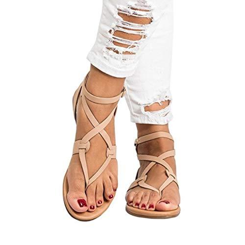 Frauen Gladiator Clip Toe Cross Strap Flache Sandalen Einstellbare Schnalle Slingback Komfortable Sommer Strand Schuhe 6-zoll-sexy Slingback-schuh
