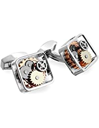 Tateossian RT Silver Gear Cufflinks