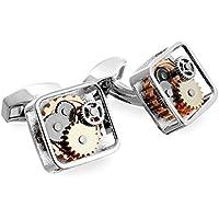 Tateossian RT Silver Gear Cufflinks