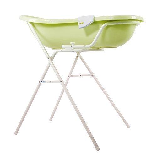 Baby Badewanne grün XXL + Badewannenständer + Waschhandschuh
