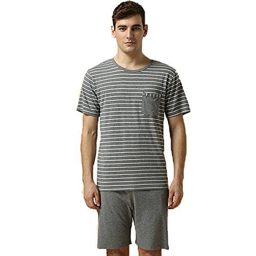 Preisvergleich Produktbild Greenfield Baumwolle Herren Zweiteiliger Schlafanzug Anzug Kurz Schlafanzüge