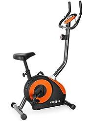 Klarfit MOBI-FX-250 • Ergometer • Heimtrainer • Fitness-Bike • Cardio-Bike • Trainingscomputer • integrierter Handpulsmesser • 8-stufig verstellbarer Widerstand • ergonomische Bauform • max. 100kg Körpergewicht • weiß-blau oder schwarz-orange