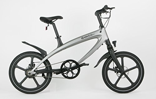 IC Electric Alfa Bicicleta Eléctrica, Plata, Talla Única