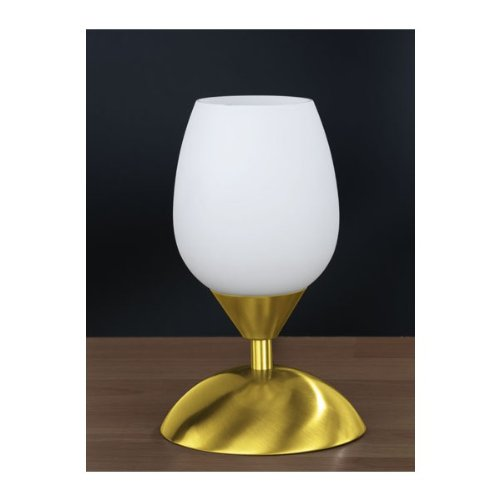 Lampe de chevet tactile Blanc et Or
