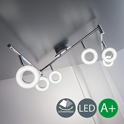 Led Deckenleuchte Schwenkbar Inkl 6 X 4w Leuchtmittel 230v Ip20 Led
