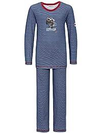 Pijama Largo para niños de 2 Piezas de Color Azul-Blanco a Rayas