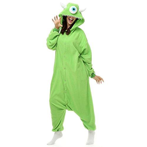Mike Kostüm Wazowski Für Erwachsene - Imprinte. Cosplay Damen Strampelanzug grün grün M (Höhe 5'2-5'6)
