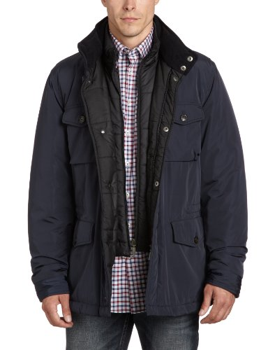 Gant - Giacca con collo mao, manica lunga, uomo, Blu (Blau (Navy)), XL